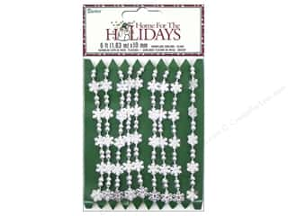 Ornaments Winter Wonderland: Darice Decor Holiday Garland Snowflake 10mm Silver 6ft