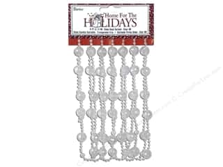 Darice Decor Holiday Garland Globe Irid White 9ft