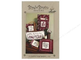 Bird Brain Design Fall Favorites: Bird Brain Designs My Favorite Things Redwork Pattern