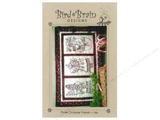 Bird Brain Design Stitchery, Embroidery, Cross Stitch & Needlepoint: Bird Brain Designs Three Christmas Friends Pattern