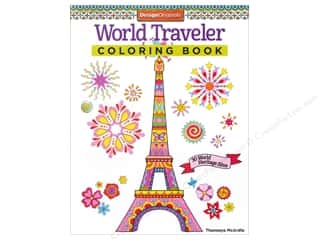 Activity Books / Puzzle Books: Design Originals Coloring World Traveler Book