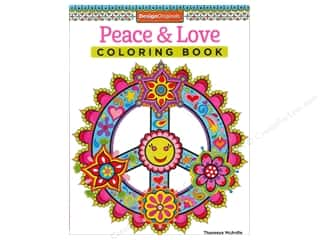 Design Originals Children: Design Originals Coloring Peace & Love Book