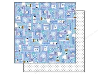 Winter Wonderland Printed Cardstock: Doodlebug Frosty Friends Paper 12x12 Bundled Up (25 piece)