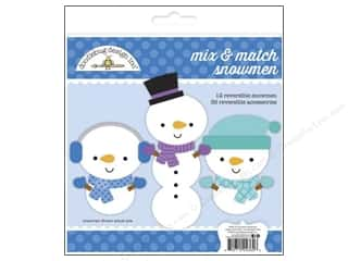 Christmas paper dimensions: Doodlebug Frosty Friends Collection Craft Kit Mix & Match Snowmen