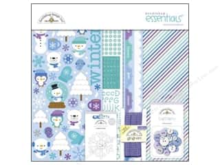 Crafting Kits Winter: Doodlebug Frosty Friends Collection Essentials Kit