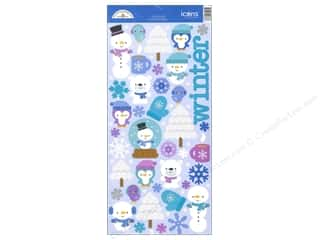 Doodlebug Frosty Friends Sticker Icon Sugar (12 set)