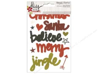 Simple Stories ABC & 123: Simple Stories DIY Christmas Collection Sticker Letters/Words