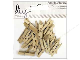 Simple Stories Clearance Crafts: Simple Stories DIY Christmas Collection Clothespins
