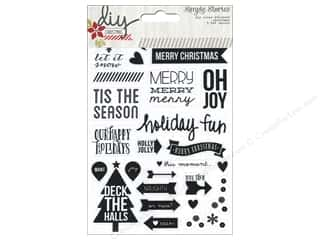 Christmas Clear: Simple Stories DIY Christmas Collection Sticker Photo Clear