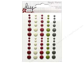 Christmas Burgundy: Simple Stories DIY Christmas Collection Dots Enamel
