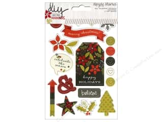 arrow burgundy: Simple Stories DIY Christmas Collection Sticker Chipboard