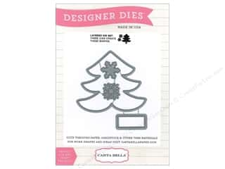Carta Bella Designer Dies All Bundled Up Snowflake Tree
