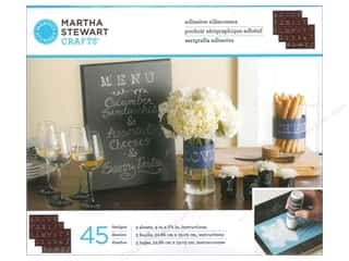 ABC & 123: Martha Stewart Silkscreen by Plaid Chalkboard Bodoni Alphabet