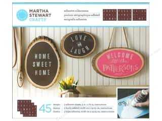 Martha Stewart Crafts ABC & 123: Martha Stewart Silkscreen by Plaid Chalkboard Striped Alphabet