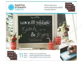 Captions Craft & Hobbies: Martha Stewart Silkscreen by Plaid Chalkboard Phrases