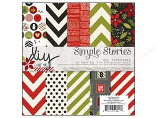 "Christmas Burgundy: Simple Stories DIY Christmas Collection Paper Pad 6""x 6"""