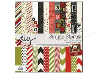 "Crafting Kits $12 - $16: Simple Stories DIY Christmas Collection Paper Kit 12""x 12"""