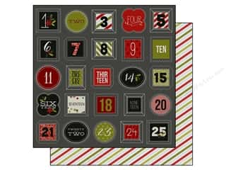 "Simple Stories Borders: Simple Stories DIY Christmas Collection Paper 12""x 12"" Countdown (25 pieces)"