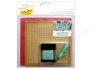 Yarn & Needlework ABC & 123: American Crafts Amy Tangerine Stitched Embroidery Kit Comrade
