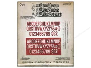 ABC & 123: Sizzix Dies Tim Holtz Thinlits Alphanumeric