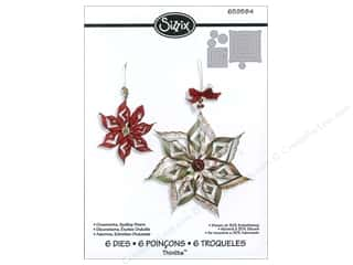 Scrapbooking Dies: Sizzix Dies Rachael Bright Thinlits Winter Ornaments Scallop Stars