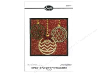 Dies Christmas: Sizzix Dies Rachael Bright Thinlits Winter Card Front Ornaments