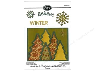 Sizzix Die RBright Thinlits Winter Card Front