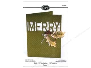 Captions $4 - $5: Sizzix Dies Rachael Bright Thinlits Winter Card With Cut Out Merry