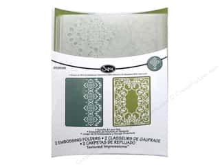 Laces $4 - $6: Sizzix Embossing Folders Rachael Bright Textured Impressions Winter Scrolls & Lace