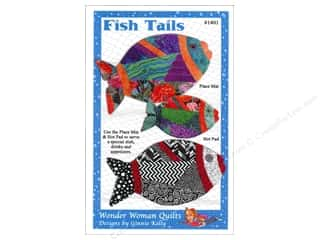 Patterns Hot: Wonder Woman Quilts Fish Tails Place Mat & Hot Pad Pattern