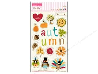Autumn Leaves paper dimensions: Bella Blvd Chipboard Icons Hello Autumn
