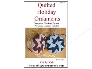 Ornaments Sewing & Quilting: Kits By Kalt Quilted Holiday Ornaments The Pinwheel Pattern