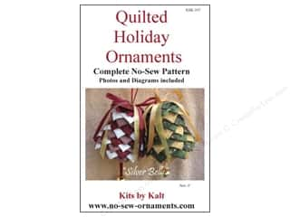 Bareroots Home Decor Patterns: Kits By Kalt Quilted Holiday Ornaments Silver Bells Pattern
