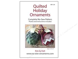 Ornaments Sewing & Quilting: Kits By Kalt Quilted Holiday Ornaments The Pinecone Pattern