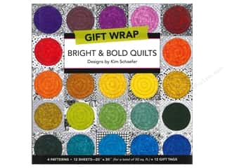 Workman Publishing $10 - $12: C&T Publishing Gift Wrap & Tags Bright & Bold Quilts by Kim Schaefer