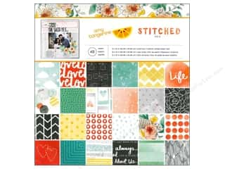 American Crafts Paper Pad 12 x 12 in. Amy Tangerine Stitched