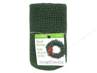 "Ribbons Sale: FloraCraft Ribbon Burlap 5""x 5yd Green"