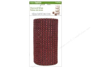 "Floracraft Christmas: FloraCraft Ribbon Diamond Wrap 4.25""x 6ft Red"