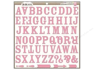 Bo Bunny Stickable Stencils Alphabet