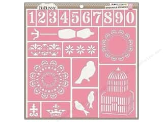 Bo Bunny ABC & 123: Bo Bunny Stickable Stencils Bliss