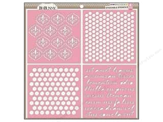 Bo Bunny Stickable Stencils Brocade