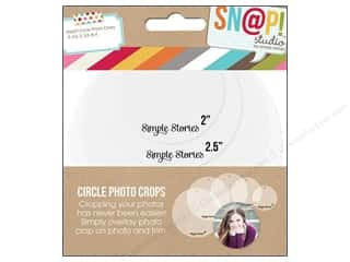 Simple Stories Template Snap Photo Crops Circle