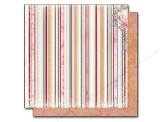 Hot Burgundy: Bo Bunny 12 x 12 in. Paper Madeleine Stripe (25 pieces)