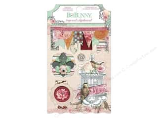 Bo Bunny Layered Chipboard Stickers Madeleine