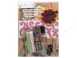 Craft Embellishments Burgundy: Bo Bunny Ephemera Madeleine
