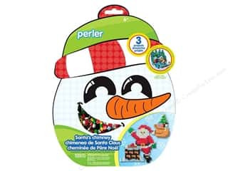 Crafting Kits Beading & Jewelry Making Supplies: Perler Fused Bead Kit Santa's Chimney