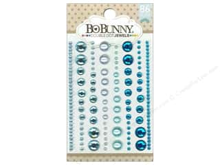 Bo Bunny Double Dot Jewels 86 pc. Aqua