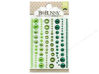 Rhinestones Scrapbooking Sale: Bo Bunny Double Dot Jewels 86 pc. Emerald