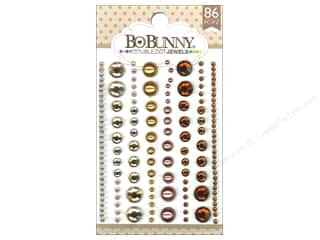 Rhinestones Scrapbooking Sale: Bo Bunny Double Dot Jewels 86 pc. Mocha