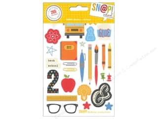 Back To School Framing: Simple Stories SN@P! Stickers School